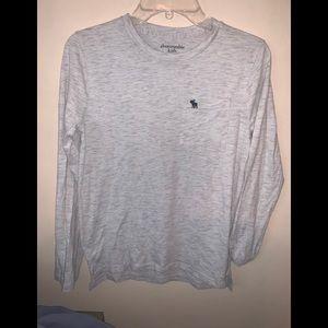 Abercrombie kids long sleeve gray shirt